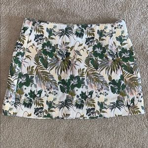 Urban Outfitters Green Floral Skirt w/ Pockets